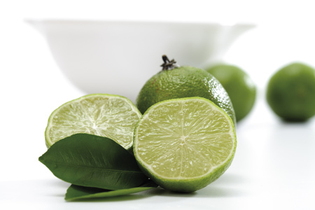 citrons: Lime Fruits Infront Of Bowl