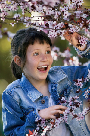 Young Girl (10-11) Outdoors, Smiling