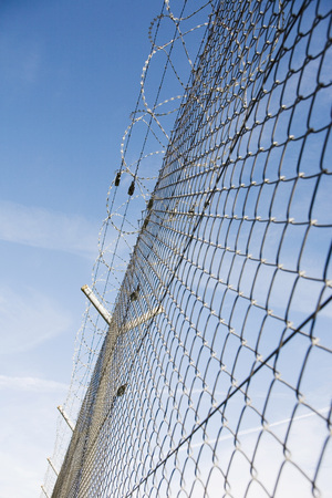 deterrence: Protection Fence. Close-Up