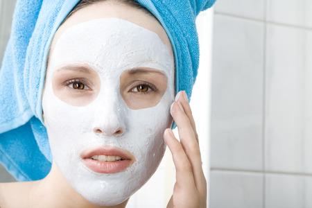 Woman Applying Beaty Mask, Close-Up