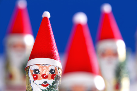 Christmas Chocolates With Wrappers Resembling Santa Claus LANG_EVOIMAGES