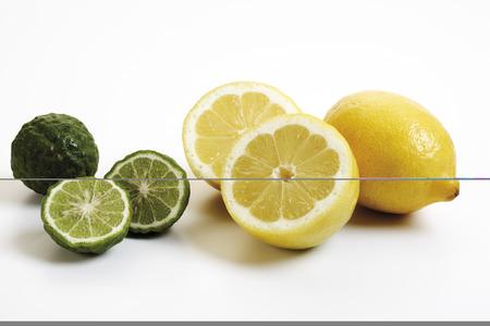 citrons: Kaffir Limes, And Lemons, Close-Up
