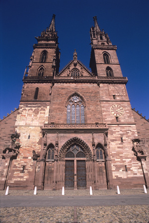 Switzerland, Basel, Mã¼Nster Church, Low Angle View