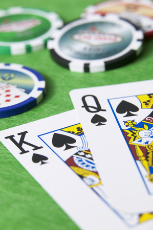 Playing Cards And Chips, Close-Up