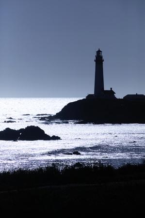 gloaming: Usa, California, Coastline In Twilight
