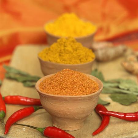 Spice, Curry, Curcuma, Chili