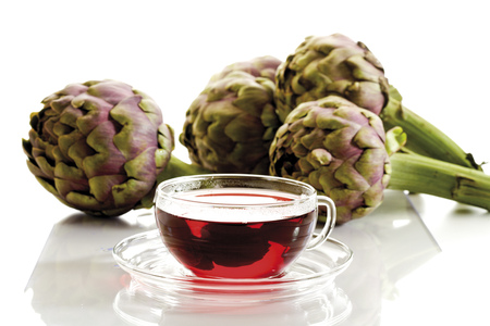 vitamin rich: Artichoke Tea And Artichokes, Close-Up