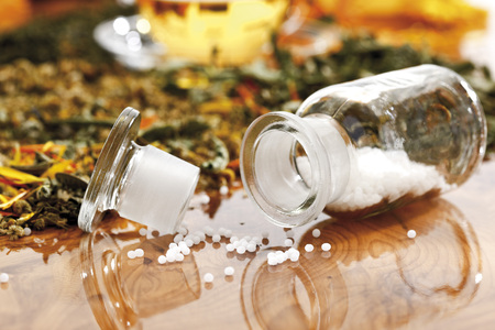 Homoeopathic Pills In Apothecary Flask LANG_EVOIMAGES