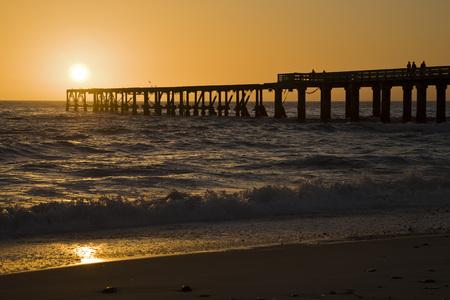 Africa, Namibia, Swakopmund, Sunset At Sea