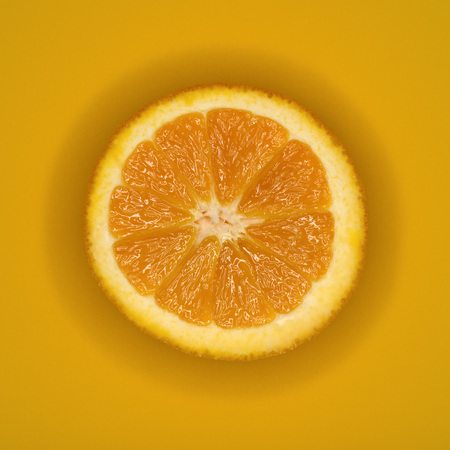 Single Slice Of Orange, Elevated View