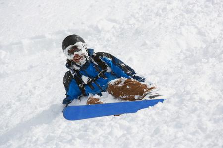 Austria, Axamer Lizum, Man Skiing