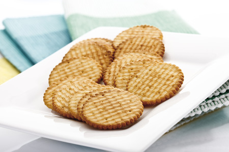 Cracker On Platter, Close-Up