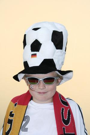 Boy (10-13), Soccer Fan, Portrait