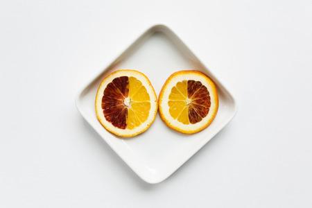 sorts: Sliced Blood Orange, Elevated View