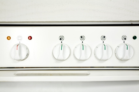 Knobs On Oven, Full Frame, Close-Up