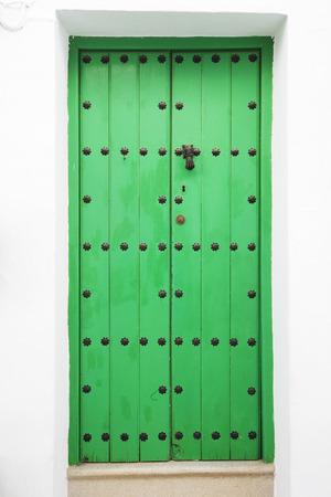 Spain, Andalusia, Frigiliana, Wooden Door LANG_EVOIMAGES