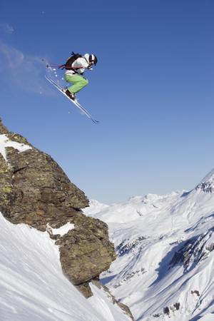 Austria, Arlberg, Albona, Skier Jumping