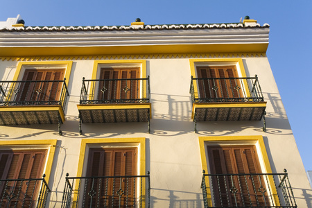 nerja: Spain, Andalusia, House Facade, Close-Up