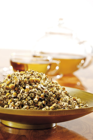 complementary: Chamomile Tea, Close-Up