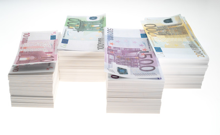 Stack Of Euro Banknotes LANG_EVOIMAGES