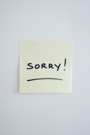 Adhesive Note Saying Sorry
