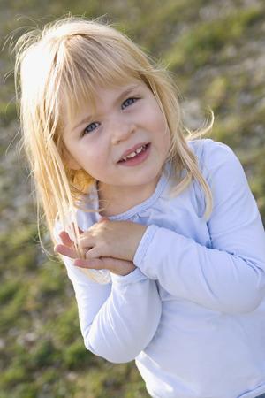 Little Girl (3-4), Looking Hopeful, Portrait LANG_EVOIMAGES