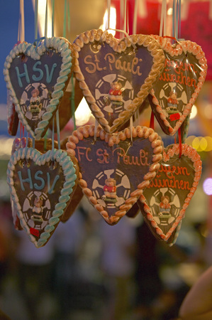 Germany, Hamburg, Hamburger Dom, Gingerbread Hearts
