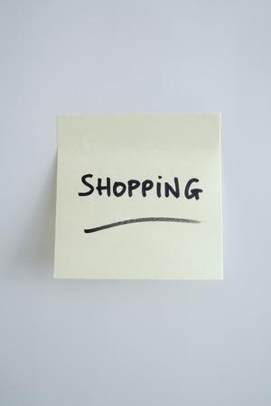 Adhesive Note Saying Shopping LANG_EVOIMAGES