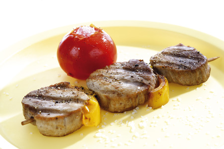 Grilled Pork Filet And Vegetables