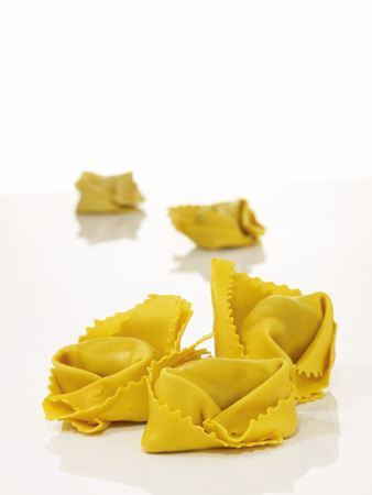 Uncooked Tortellini, Elevated View LANG_EVOIMAGES