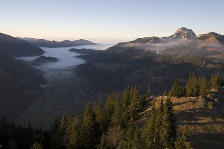 Germany, Bavaria, Sudelfeld, View Onto Bayrischzell