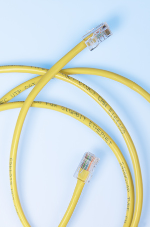 Computer Ethernet Cable,Elevated View
