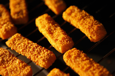 Fish Fingers In Oven, Close-Up