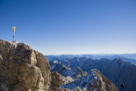 Germany, Bavaria, Wetterstein Mountains, Zugspitze, Summit Cross
