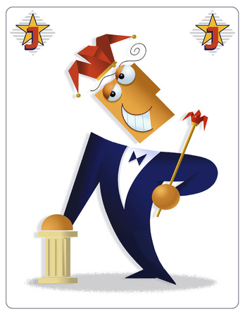 wildcard: Illustration, Joker Card