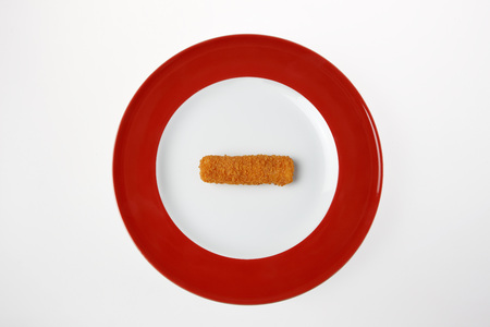 Fish Finger On Plate, Elevated View