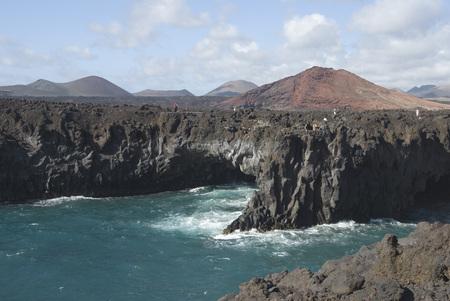 Spain, Lanzarote, Los Hervideros, Rocky Coast