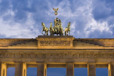 Germany, Berlin, Brandenburg Gate, Quadriga
