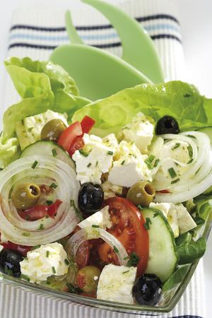 Mixed Salad, Greek Style