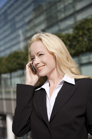 Business Woman Phoning, Portrait
