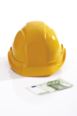 Hardhat And 100 Euro Bank Note