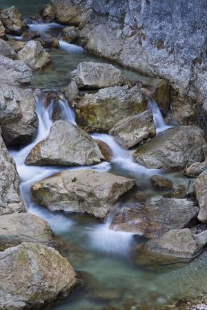 Germany, Bavaria, P�Llat Canyon, Mountain Stream
