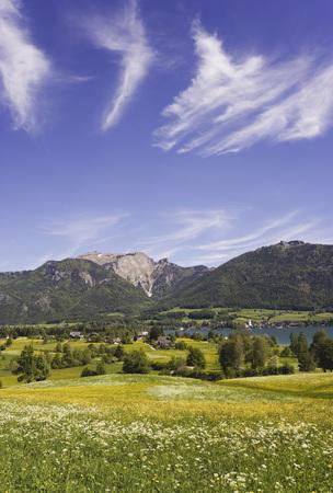 wolfgang: Austria, Salzkammergut, Lake Wolfgangsee, Schafberg Mountain In Background LANG_EVOIMAGES