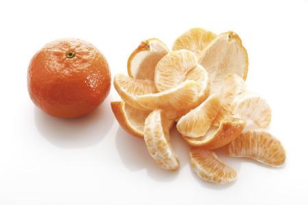 Slices Of Tangerines (Citrus × Aurantium), Elevated View
