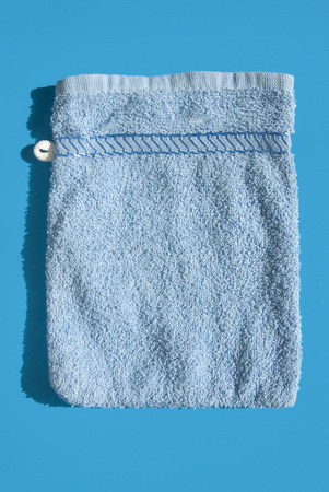 Blue Washcloth, Elevated View