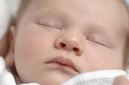 Germany, Bavaria, Munich, Baby Boy 3 Weeks) Sleeping, Close Up