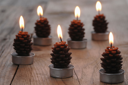 Fir Cone Shaped Candles