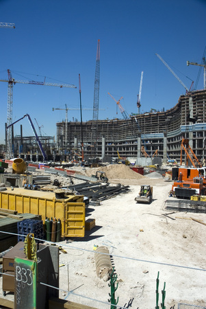 Usa, Nevada, Las Vegas, View Of Construction Site LANG_EVOIMAGES