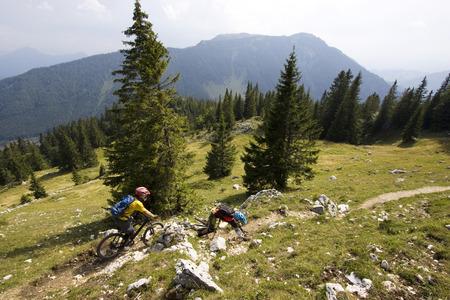 mtb: Germany, Bavaria, Kampenwand, Mountainbiking