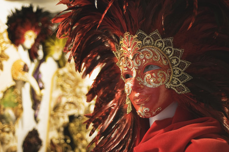 Italy, Venice, Carnival Mask, Close Up